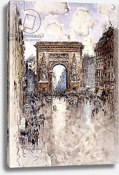 Постер Богз Франк La Porte St. Denis, Paris,