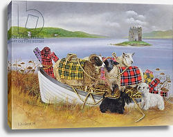 Постер Уоттс Э. (совр) Sheep with Tartan, 1999