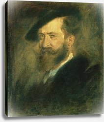 Постер Ленбах Франц Portrait of the Artist Wilhelm Busch, c.1878