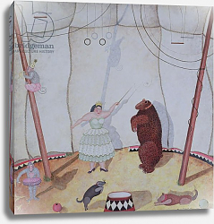 Постер Стюарт Мари (совр) Lady with Dancing Bear, 1980