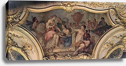Постер Натойр Чарльз Decorative panel from the Oval Salon illustrating the Story of Psyche, 1732-39