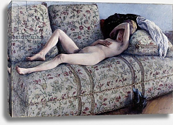 Постер Кайботт Гюстав (Gustave Caillebotte) Nude on a Couch, c.1880