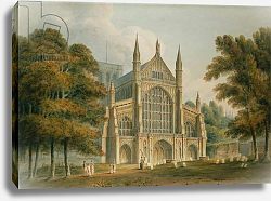 Постер Буклер Джон (акв) Winchester Cathedral: The Facade from the North-West, 1801
