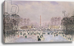 Постер Джанг Теодор Skating in the Tuileries, c.1865