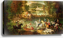 Постер Одри Жан-Батист Hunting at the Saint-Jean Pond in the Forest of Compiegne, before 1734