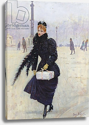 Постер Бакст Леон Parisian woman in the Place de la Concorde, c.1890