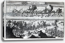 Постер Школа: Голландская 18в. Battle between the Buccaneers and the Spaniards during the attack on Panama in 1671, 1678