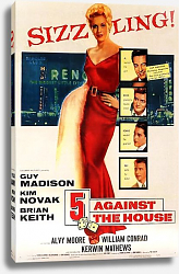 Постер Film Noir Poster - 5 Against The House