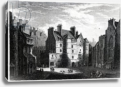 Постер Насмиф Александр Old Tolbooth, Edinburgh, engraved by Edward Finden
