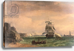 Постер Уитком Томас Men-O'-War and Small Craft at Portsmouth Harbour, late 18th or early 19th century