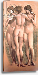 Постер Берне-Джонс Эдвард The Three Graces, c.1885,