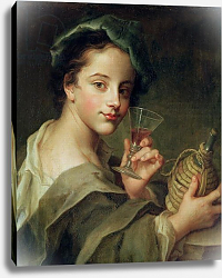Постер Мерсье Филипп Woman with a Glass of Wine