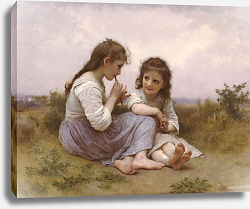 Постер Бугеро Вильям (Adolphe-William Bouguereau) Идиллия детства
