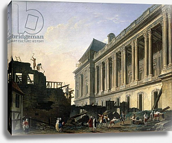 Постер Демаки Пьер The Clearing of the Louvre colonnade, 1764