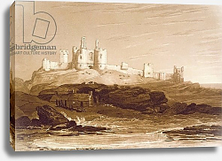 Постер Тернер Вильям (последователи) F.14.I Dunstanborough Castle, from the 'Liber Studiorum', engraved by Charles Turner, 1808
