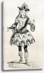 Постер 18th century costume. Published on Magasin pittoresque, Paris, 1842