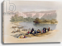 Постер Робертс Давид Banks of the Jordan, April 2nd 1839, plate 48 from Volume II of 'The Holy Land', pub. 1843