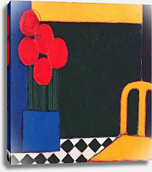 Постер Донне Эйфне (совр) Tulips and Yellow Chair, 2002
