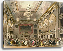Постер Роуландсон Томас Pantheon Masquerade from 'Ackermann's Microcosm of London', engraved by John Bluck published 1800