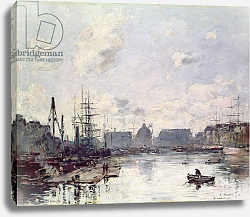 Постер Буден Эжен (Eugene Boudin) The Port of Trade, Le Havre, 1892