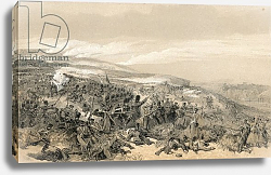 Постер Симпсон Вильям Second charge of the Guards, when they retook the two gun battery at the battle of Inkermann