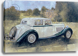 Постер Миллер Питер (совр) The Green and White Bentley at Althorp