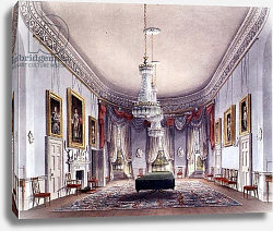 Постер Пайн Уильям (грав) The Dining Room, Frogmore from Pyne's 'Royal Residences', 1818