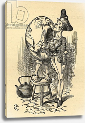 Постер Тениель Джон Humpty Dumpty, illustration from 'Through the Looking Glass' by Lewis Carroll first published 1871