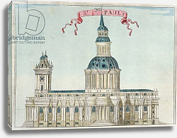 Постер Модерн Робер (грав) St. Paul's Cathedral,  c.1700