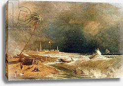 Постер Даниэль Уильям Madras, or Fort St. George, in the Bay of Bengal - A Squall Passing Off, 1833