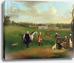 Постер Девис Артур Leak Okeover, Rev. John Allen and Captain Chester at Okeover Hall, Staffordshire, c. 1785