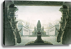 Постер Шинкель Карл Set design for last scene of 'The Magic Flute' by Wolfgang Amadeus Mozart
