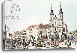 Постер Циглер Иоганн Parish Church and Convent of Mariahilf, Vienna, 1783