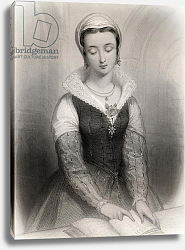 Постер Стаал Пьер (грав) Lady Jane Grey illustration from 'World Noted Women' by Mary Cowden Clarke, 1858
