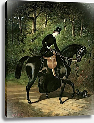 Постер Дедрё Альфред The Rider Kipler on her Black Mare