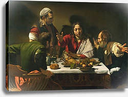 Постер Караваджо (Caravaggio) The Supper at Emmaus, 1601