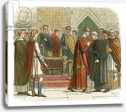 Постер Дойл Джеймс King William I pays court to the English leaders