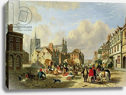 Постер Ходжсон Давид The Haymarket, Norwich, 1825