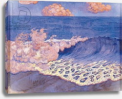 Постер Лакомб Джордж Blue seascape, Wave Effect, c.1893