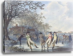 Постер Ибертсон Юлиус Winter Amusement: A View in Hyde Park from the Moated House, 1787