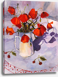 Постер Уэльс Сью (совр) Sun lit poppies, 2003,