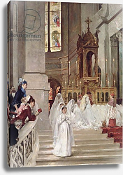 Постер Джервекс Уильям Communion at the Church of the Trinity, 1877