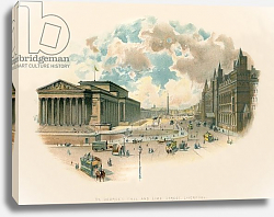 Постер Уилкинсон Чарльз St. George's Hall and Lime Street, Liverpool