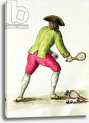 Постер Гревенброк Ян A Man Playing with a Racquet and Balls
