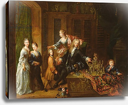 Постер Турниер Робер Portrait of Nicolas de Launay and his Family
