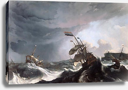 Постер Ships in Distress in a Heavy Storm