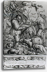 Постер Барлоу Франсис Illustration from the Introduction to Aesop's Fables, 1666