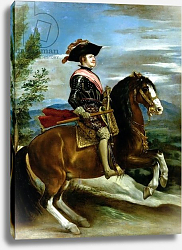 Постер Веласкес Диего (DiegoVelazquez) Equestrian Portrait of King Philip IV of Spain