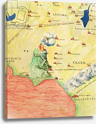 Постер Агнес Батиста (карты) Mount Sinai and the Red Sea, from an Atlas of the World in 33 Maps, Venice, 1st September 1553