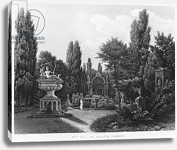 Постер Ваузель Джон First view of the great garden, Musee des Monuments Francais, Paris, 1816